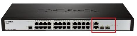 Коммутатор D-Link DES-3200-26 порты UPLINK
